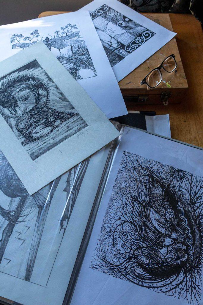 Inkwork by artist Sue Hartly