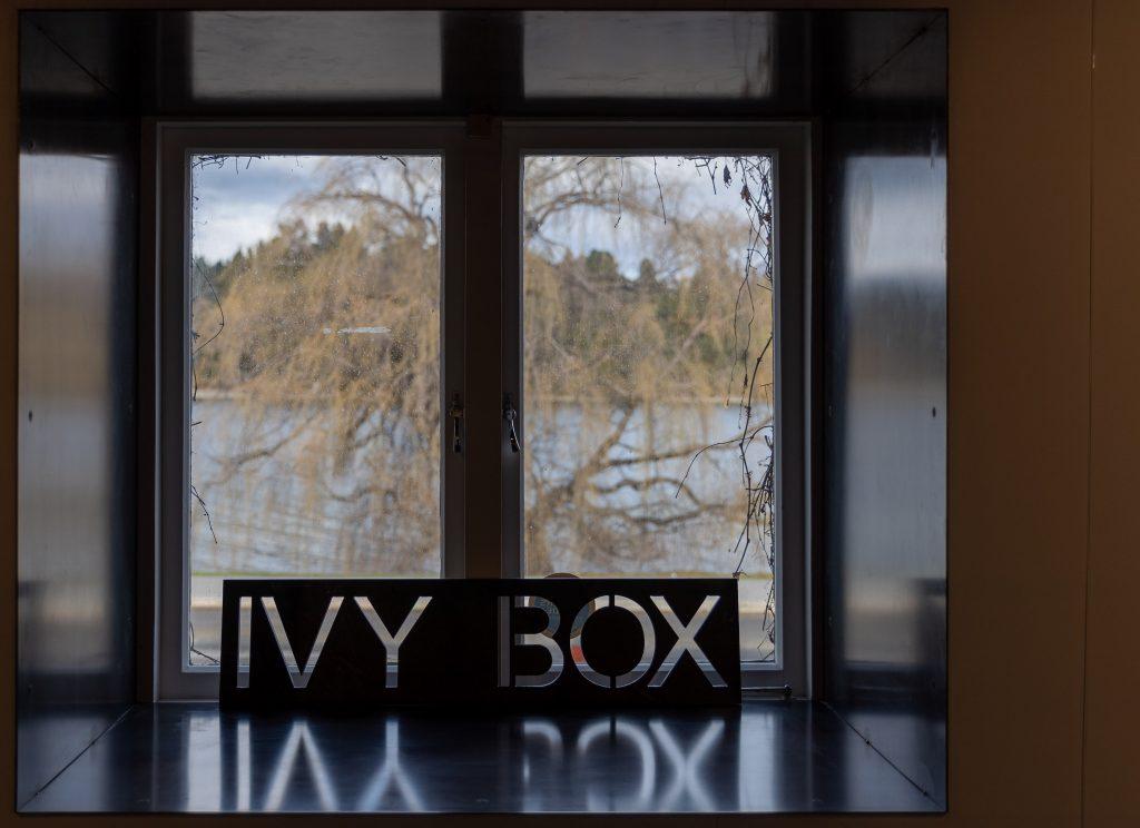 Ivy Box art gallery sign