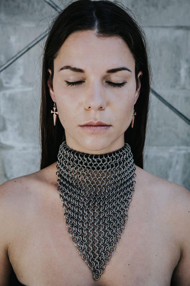 Metalwork jewellery Jane Sutherland